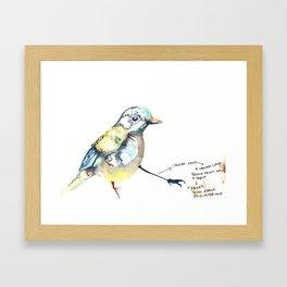 I Painted a Bird Framed Art Print