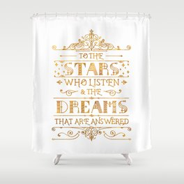 To the Stars - White Shower Curtain