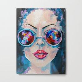 Girl in sunglasses Metal Print