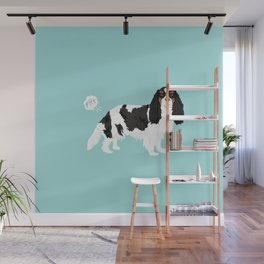 Cavalier King Charles Spaniel tricolored funny farting dog breed gifts Wall Mural