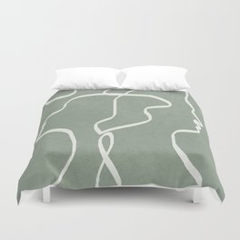 Abstract Faces Duvet Cover