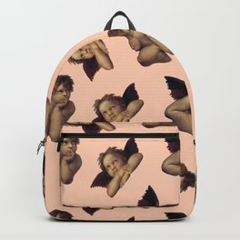 Classical Cherub Toss in Peach Fresco Backpack