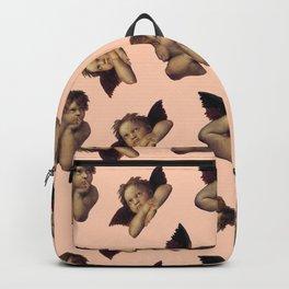 Classical Cherub Toss in Peach Fresco Backpack
