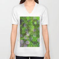 circles V-neck T-shirts featuring Circles by Sandra Hedicke Clark