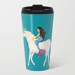 To the Land of Mermaids and Unicorns Travel Mug