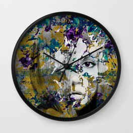 Abstract Art Composition Female face Wall Clock