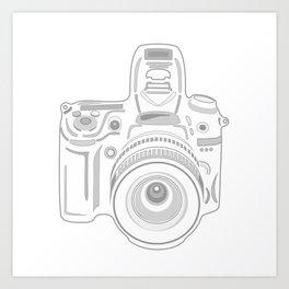 Grey Cameras Art Print