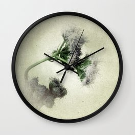 Praxelis Purple Wildflowers Wall Clock