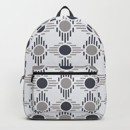 Geometric Pattern. Circles and Rhombuses Backpack