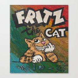 CULT ICON, FRITZ THE CAT by DAVID C*J BUNN Canvas Print