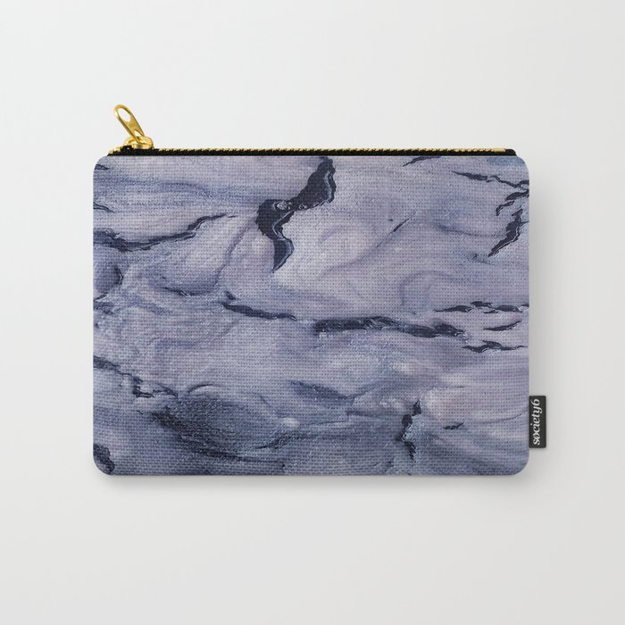 gray marble Carry-All Pouch