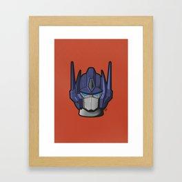 G1 Optimus prime Framed Art Print
