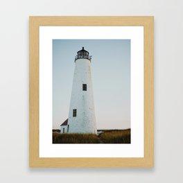 Nantucket Great Point Lighthouse 2  Framed Art Print