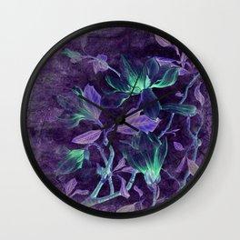 Purple Magnolia Wall Clock