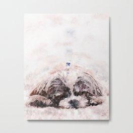 Sleeping Yorkshire Terrier Metal Print