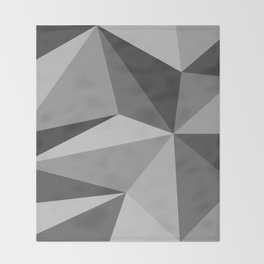 Different shades of Grey Throw Blanket