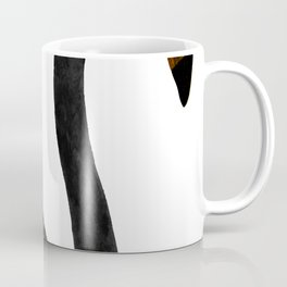 Black Flamingo 2 - Tropical Wall Decor - Flamingo Posters - Exotic Birds - Black, Modern, Minimal Coffee Mug