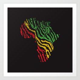 Reggae Africa Art Print