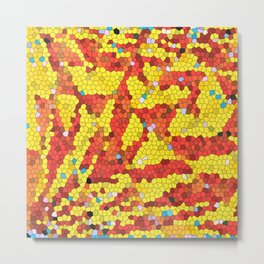 Yellow and red abstract Metal Print