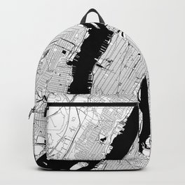 New York City Black and White Map Backpack