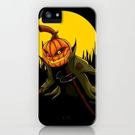 Pumpkin scarecrow iPhone Case