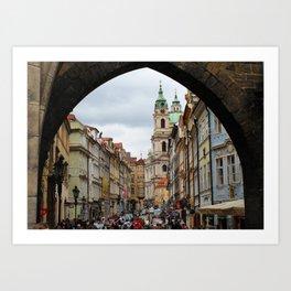 Streets of Prag Art Print