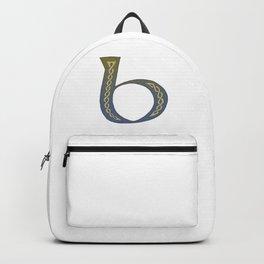 Celtic Knotwork Alphabet - Letter B Backpack