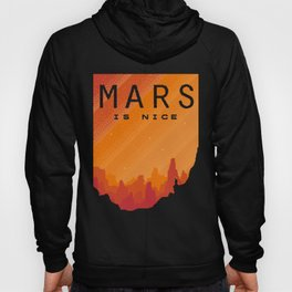 MARS Space Tourism Travel Poster Hoody