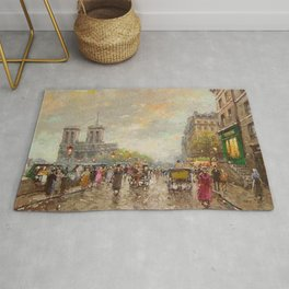 Notre Dame Cathedral, Paris, France by Antone Blanchard Rug