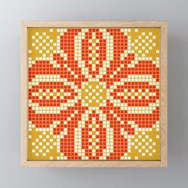 Red & Gold Flower Framed Mini Art Print