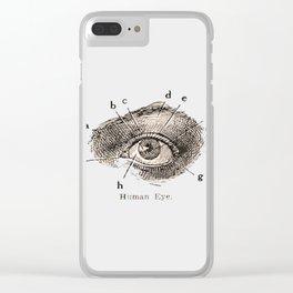 I've got my eye on you vintage illustration Clear iPhone Case