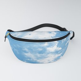 cloudy sky 2 wb Fanny Pack