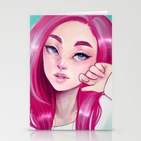 cyarin Stationery Cards featuring Freckly by Cyarin