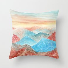 Lines in the mountains XX Throw Pillow