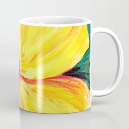 Aloha; Yellow Hibiscus Coffee Mug