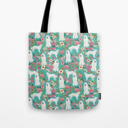 Great Pyrenees florals pattern dog breed must have dog lover gifts Tote Bag