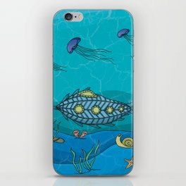 Nautilus under the sea iPhone Skin