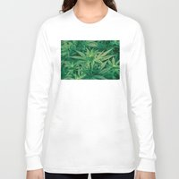 marijuana Long Sleeve T-shirts featuring Marijuana Plants  by Limitless Design