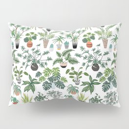 plants and pots pattern Pillow Sham