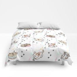 Kawaii cute cats Comforters