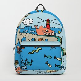 Sea Doodle World Animals Backpack