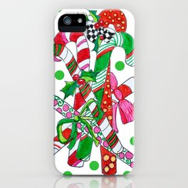 Candy Cane Party iPhone Case