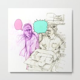 Cheat ghost eat tofu Metal Print