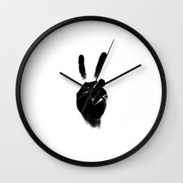 Peace — square and white Wall Clock