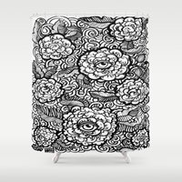 evil eye Shower Curtains featuring Evil Eye by Emily N3ver