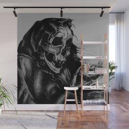 Skeleton Holding Diamond Wall Mural