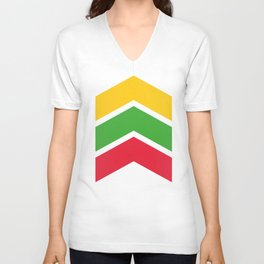 Chevron Burma Flag Colors Unisex V-Neck