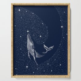 starry whale Serving Tray