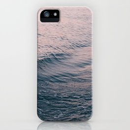 Pink Sunset Waves iPhone Case