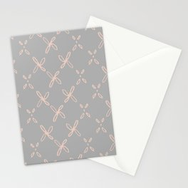 Pink & Gray Abstract Astral Pattern Stationery Cards